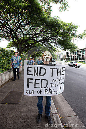 Occupy Honolulu/anti-APEC Protest-56 Editorial Stock Photo