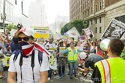 Occupy LA Demonstration and Rally Editorial Stock Photo