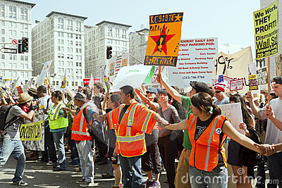 Occupy LA Demonstration and Rally Editorial Stock Image