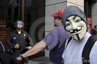 Occupy LA protesters march Editorial Stock Image