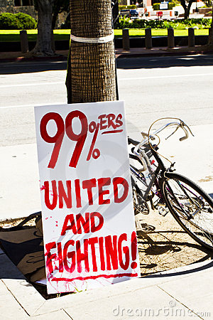 Occupy LA Signs and Posters Editorial Photo