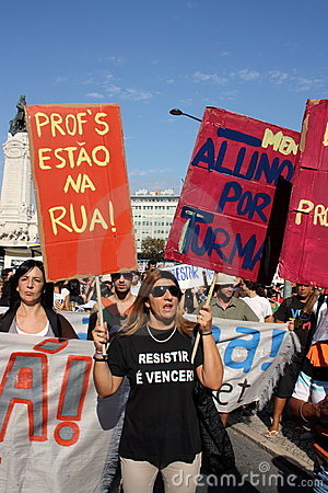 Occupy Lisbon - Global Mass Protests 15 October Editorial Image