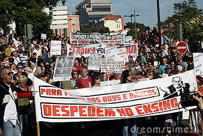 Occupy Lisbon - Global Mass Protests 15 October Editorial Stock Photo