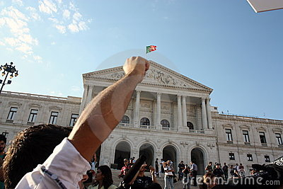 Occupy Lisbon - Global Mass Protests 15 October Editorial Stock Image
