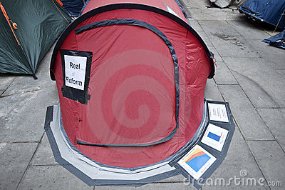Occupy London Editorial Stock Photo