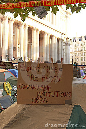 Occupy London Editorial Stock Image