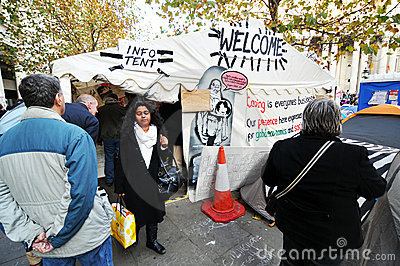 Occupy London Editorial Photography