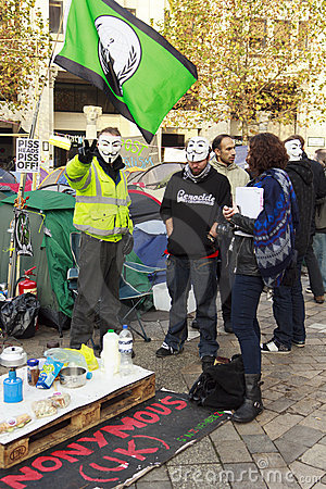 Occupy London Editorial Photo