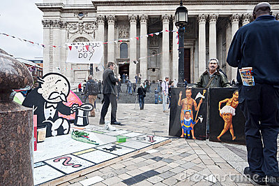 Occupy London protesters Editorial Stock Photo