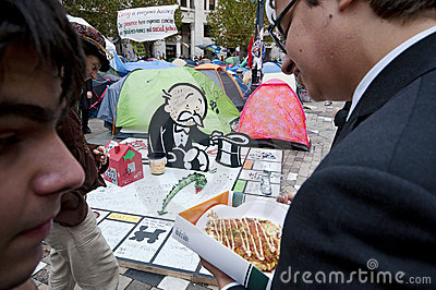 Occupy London protesters Editorial Image