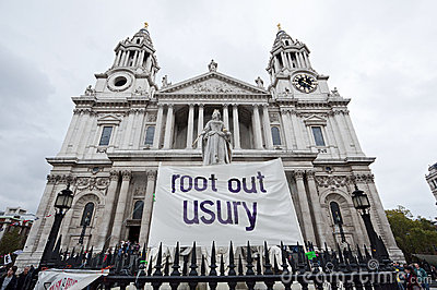 Occupy London protests Editorial Stock Photo
