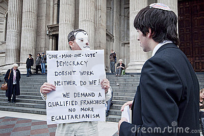 Occupy London Speaker Editorial Photo