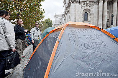 Occupy London Tent Camp Editorial Image