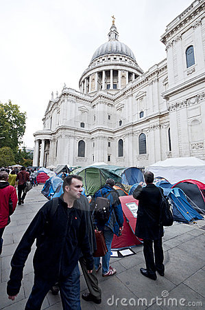 Occupy London Tent Camp Editorial Stock Image