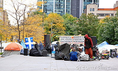 Occupy Movement in Montreal Editorial Stock Photo
