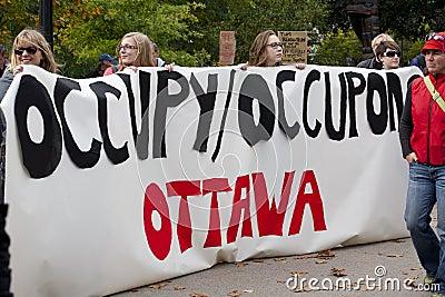 Occupy Ottawa Editorial Stock Photo