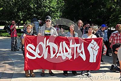 Occupy protest anniversary in Ottawa Editorial Stock Photo