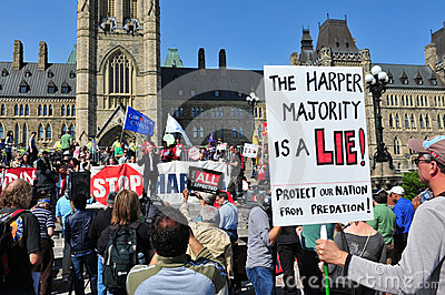 Occupy protest anniversary in Ottawa Editorial Stock Image