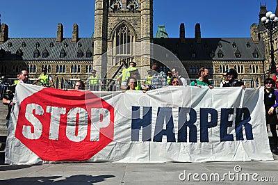 Occupy protest anniversary in Ottawa, Canada Editorial Photography