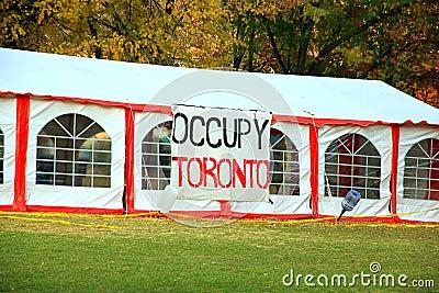 Occupy Toronto Editorial Stock Photo