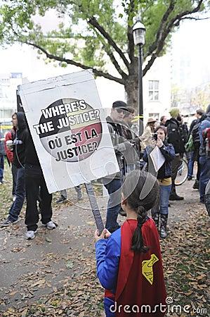 Occupy Toronto Editorial Photo