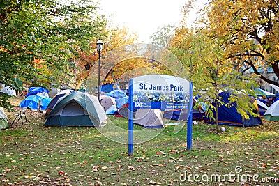 Occupy Toronto Camp Editorial Stock Photo