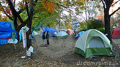 Occupy Toronto at St. James Park Editorial Stock Photo
