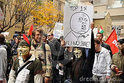 Occupy Toronto - Toronto version of Occupy Wall St Editorial Stock Image