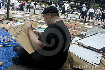 Occupy Wall St. Editorial Stock Photo