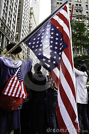 Occupy Wall Street Flag Editorial Stock Image