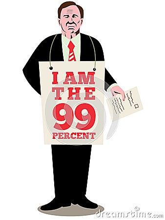 Free Occupy Wall Street I Am 99 Percent Stock Photos - 21632763