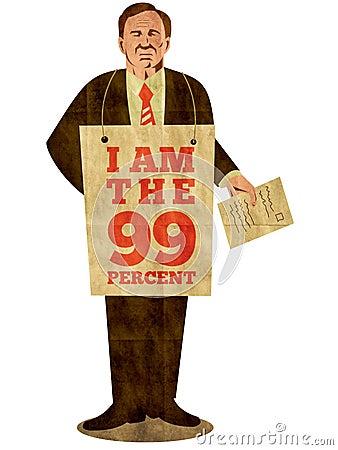 Free Occupy Wall Street I Am 99 Percent Stock Photo - 21632770