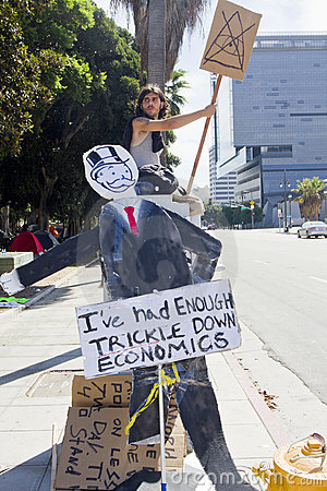 Occupy Wall Street LA Protest in Los Angeles Editorial Stock Image