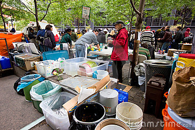 Occupy Wall Street Protest Editorial Stock Image