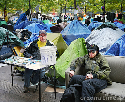 Occupy Wall Street Protest Editorial Photo