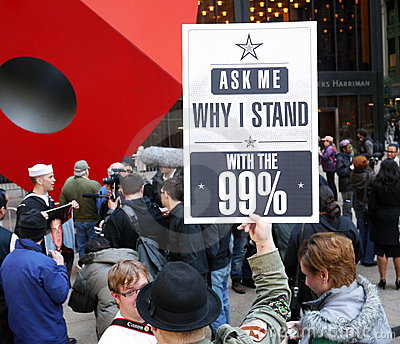 Occupy Wall Street Protest Editorial Stock Photo