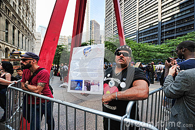 Occupy Wall Street Protest in Zuccotti Park Editorial Stock Image
