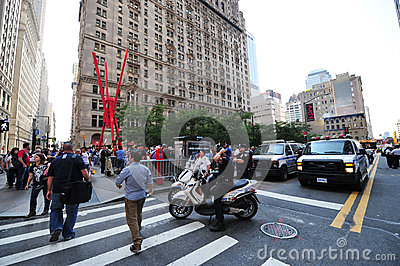 Occupy Wall Street Protest in Zuccotti Park Editorial Stock Photo