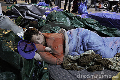 Occupy Wall Street Protestor Editorial Stock Photo