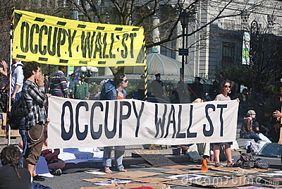 Occupy wallstreet Editorial Photo
