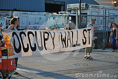 Occupy wallstreet Editorial Image