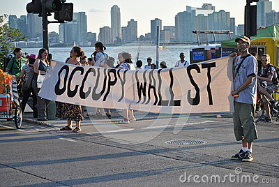 Occupy wallstreet Editorial Photography