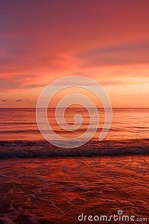 Oceaan van rood