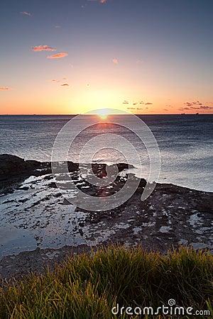Oceaan zonsopgang bij wollongong