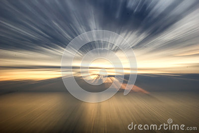 Ocean abstract sunset