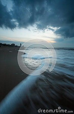 Free Ocean At Night Royalty Free Stock Photo - 1415855