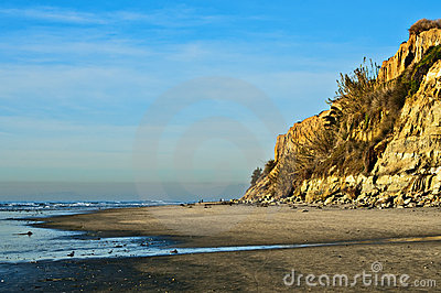 Ocean Beach with Cliffs, California