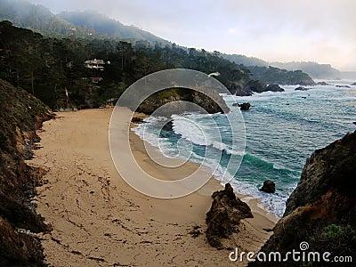 Ocean Beach after storm near Carmel California