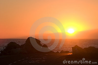 Ocean  Bike Path at Sunset