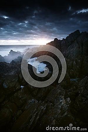 Ocean Cliffs Sunset